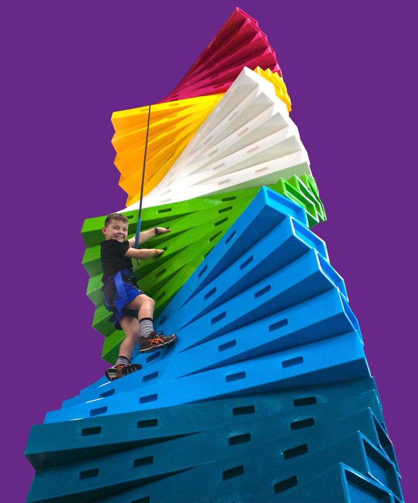 Twister climbing wall challenge Clip 'n Climb Dunedin