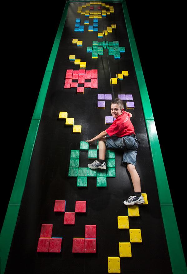 Clip 'n Climb Dunedin Aliens Climbing Wall
