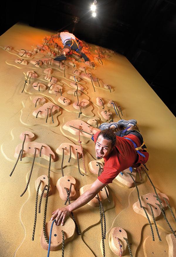 Clip 'n Climb Dunedin Spaghetti Climbing Wall